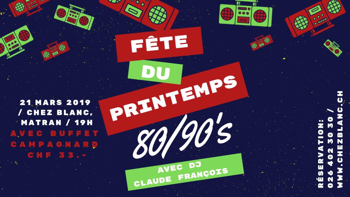 Fête du printemps 2019, on danse sur les hits des 80/90's !